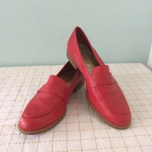 Nicole Larry Leather Red Loafers, 8 M